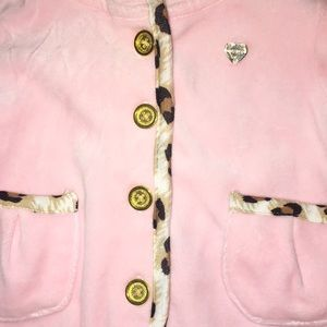 Juicy Couture Jackets & Coats - Juicy Couture Baby Velour Leopard Jacket (0-3 M)